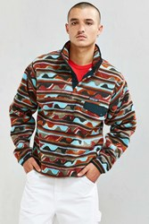 Patagonia Synchilla Fleece Snap T Pullover Sweatshirt Green Multi