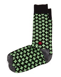 Jonathan Adler Crisscross Socks Green