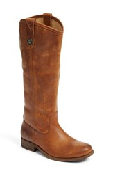 Frye Women's 'Melissa Button' Leather Riding Boot Cognac Cognac Extended Calf