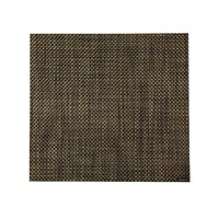 Chilewich Basketweave Square Placemat Black Gold
