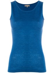 N.Peal Fine Cashmere Shell Top Blue