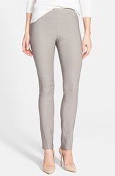 Petite Women's Nic Zoe 'Wonder Stretch' Slim Leg Pants Mushroom