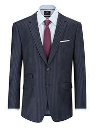 Skopes Jefferson Suit Jacket Navy Stripe
