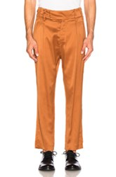 Ann Demeulemeester Trousers In Orange Brown Orange Brown