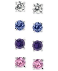 B. Brilliant Sterling Silver Earring Set Multistone Stud Earring Set