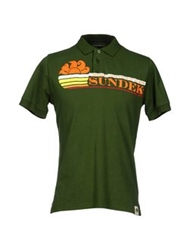 Sundek Polo Shirts Military Green
