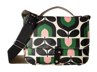 Orla Kiely Matt Laminated Stripe Tulip Print Satchel Spring Satchel Handbags Green