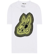 Mcq By Alexander Mcqueen Bunny Be Here Now Cotton T Shirt White