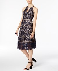 Inc International Concepts Floral Lace A Line Dress Only At Macy's Deep Twilight