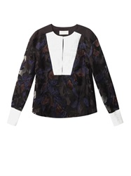 Peter Pilotto Mia Orchid Embroidered Blouse
