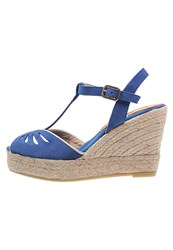 Kanna Platform Sandals Ultramar Platine Dark Blue