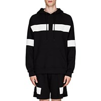 Givenchy Reflective Tape Detailed Cotton Terry Hoodie Black