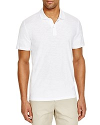 Bloomingdale's The Men's Store At Slub Jersey Enzyme Wash Classic Fit Polo 100 Exclusive White