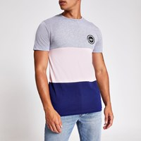 Hype Pink Colour Block Chest Logo T Shirt