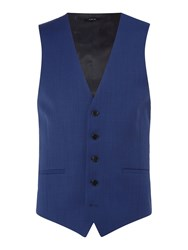 Kenneth Cole Men's Hylan Slim Fit Pindot Suit Waistcoat Navy
