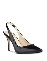 Nine West Fauna Studded Sling Back Heels Black