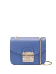 Furla Metropolis Mini Double Chain Bag Blue