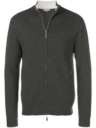 N.Peal Knitted Bomber Jacket Grey