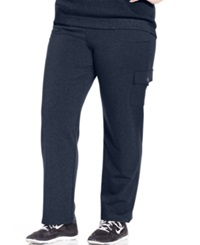Karen Scott Plus Size French Terry Cargo Lounge Pants Only At Macy's Intrepid Blue
