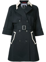 Loveless Contrast Collar Coat Black