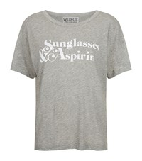 Wildfox Couture Sunglasses And Aspirin Tissue T Shirt Female Grey