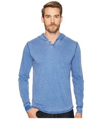 Lucky Brand Burnout Hoodley Monaco Blue Men's Clothing