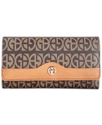 Giani Bernini Block Signature Receipt Wallet Created For Macy's Brown