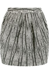 L'agence Stella Jacquard Mini Skirt Black