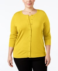 August Silk Plus Size Blend Cardigan Loco Lemon