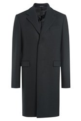 Jil Sander Coat With Wool Alpaca And Mohair Blue