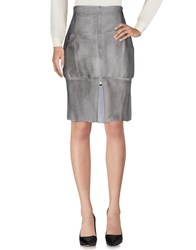 Haute Knee Length Skirts Grey