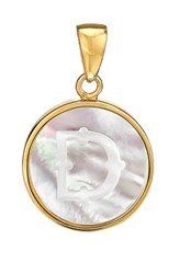 Asha Women's Mother Of Pearl Initial Charm D