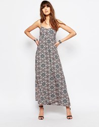 Only Swirl Print Maxi Dress Cloud Dancer White