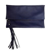 Angela Valentine Handbags Fold Over Convertible Clutch Monaco Blue