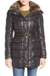 Women's Vince Camuto Down And Feather Fill Coat With Faux Fur Lined Hood