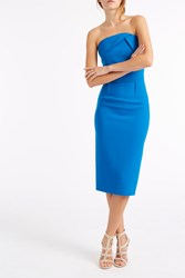 Roland Mouret Electra Crepe Dress Blue