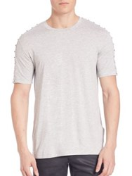 Versace Studded Cotton Tee Grey