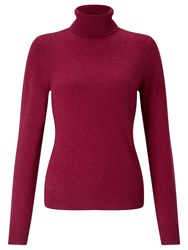 John Lewis Cashmere Roll Neck Jumper Berry