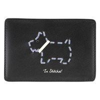 Radley In Stitches Leather Card Holder Black