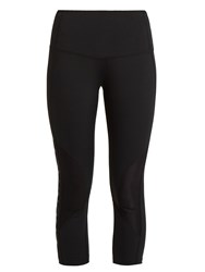 Lndr Reflex Logo Print Cropped Performance Leggings Black