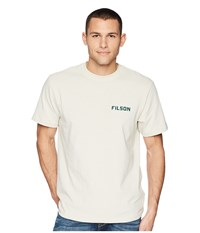 Filson Short Sleeve Outfitter Graphic T Shirt Pebble Gray Seattle Saw T Shirt White