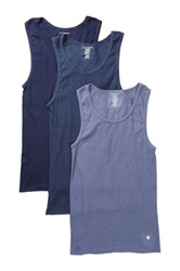 Lucky Brand Ribbed Tank Pack Of 3 Blue