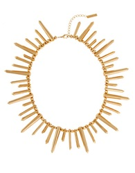 Rachel Zoe 12K Gold Plated Spike Necklace