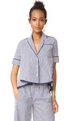 Holy Caftan Bina Cover Up Blouse Downing Blue