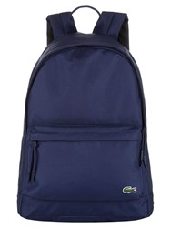 Lacoste Neocroc Backpack In Canvas Vintage Blue