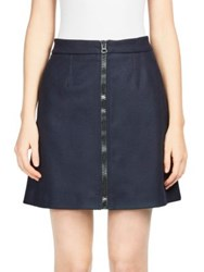 Acne Studios Suraya Flannel Mini Skirt Navy