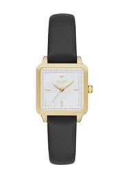 Kate Spade Washington Square Watch Black Gold