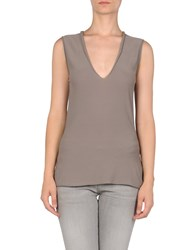 Liviana Conti Knitwear Sleeveless Jumpers Women Dove Grey