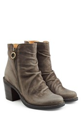Fiorentini Baker And Leather Ankle Boots With Zip