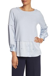 Vince Camuto Two Fer Layered Knit Blouse Northern L